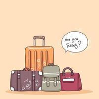 vetor de personagem de desenho animado adolescente viajante