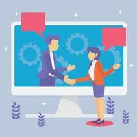 ideia de negócio amizade acordo juntar vetor