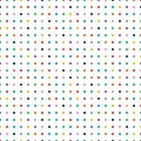ilustração em vetor sem costura retro colorido polka dot fundo padrão.