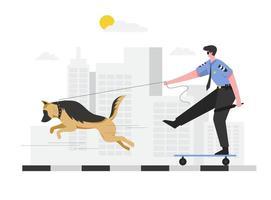 treinamento de cães policiais para uso nos assuntos do departamento de polícia vetor