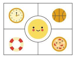 aprender formas geométricas básicas para crianças. círculo fofo. vetor