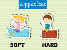 Palavras opostas para macio e duro