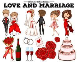 Pessoas apaixonadas e matrimoniais vetor