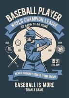 design de jogador de beisebol vetor