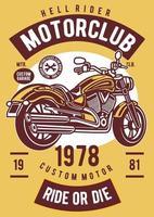 emblema vintage do motociclismo, design retro do emblema vetor