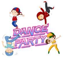 Um ícone de festa de dança vetor