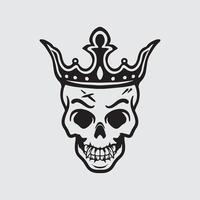 desenho do rei do crânio vetor