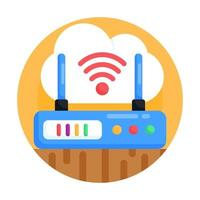 dispositivo modem com wi-fi vetor