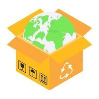 reciclagem de embalagem e sacola vetor