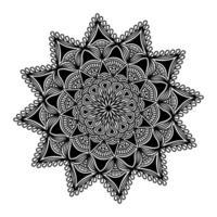 florescer desenho de mandala espiritualidade para fundo de henna vetor