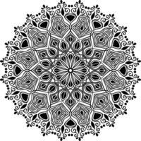 desenho de mandala ornamental de casamento para o fundo de henna vetor