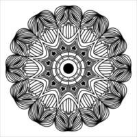 elemento gráfico de design de plano de fundo de mandala decorativo floreio ornamental vetor