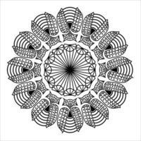 doodle desenho tribal decorativo de fundo de mandala vetor