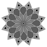 elemento gráfico do design do fundo da silhueta decorativa da mandala vetor
