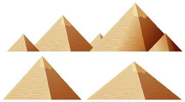 Pirâmide Isolada vetor