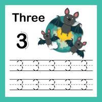 exercício de conexão de ponto e números imprimíveis com desenho adorável para ilustração de crianças em idade pré-escolar e do jardim de infância, vetor
