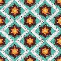 grunge colorido halloween padrão geométrico sem emenda vetor