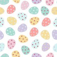 padrão sem emenda de ovos de Páscoa. vetor