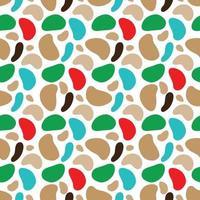 Padrão de camuflagem minimalista com manchas multicoloridas de várias formas. ilustração vetorial vetor
