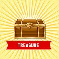Baú de tesouro em fundo amarelo vetor