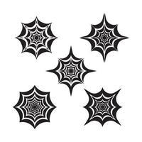 ilustração das imagens do logotipo da teia de aranha vetor