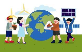 as crianças gostaram das atividades para o vetor do dia da terra