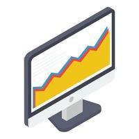 analítica de dados online vetor