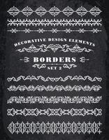 Vector Ornaments Borders. Elementos Decorativos De Design.