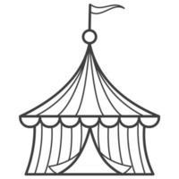 ícone de linha de tenda de circo. delinear pictograma de vetor simples. logotipo e símbolo.