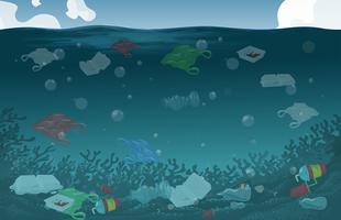Fundo de poluição de água de natureza vetor