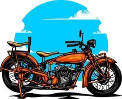 ilustração de motocicleta em cor sólida vetor