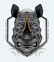 desenho de vetor de mascote de rinoceronte