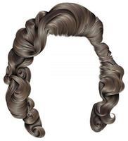 mulher na moda cabelos cores loiras. moda de beleza. cachos de estilo retro. 3d realista. vetor