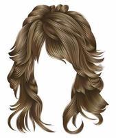 cores loiras de cabelos compridos de mulher na moda. moda de beleza. 3d realista vetor