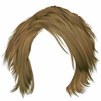 na moda mulher cabelos desgrenhados cores loiras. moda de beleza. 3d realista vetor