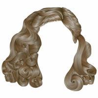 cabelos de mulher na moda kare cores loiras. moda de beleza. cachos de estilo retro. 3d realista. vetor