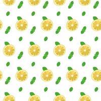 padrão sem emenda com limão e hortelã vetor