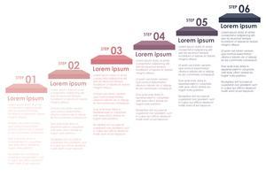 Uma informação colorida Passos vetor