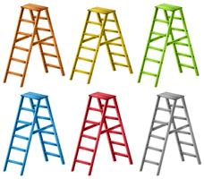 Escadas em seis cores diferentes vetor