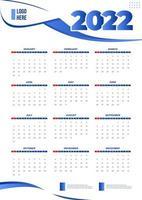 calendário de negócios com fundo branco vetor