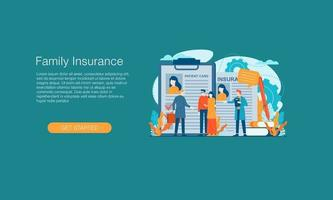 fundo de modelo de design de ilustração vetorial de seguro saúde isolado pode ser usado para apresentação página de destino de banner da web vetor