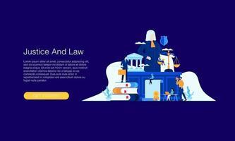 julgamento legal ilustração vetorial conceito modelo design de plano de fundo pode ser usado para apresentação web banner ui ux landing page vetor