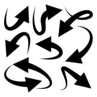seta definir elemento de rabiscos vetor