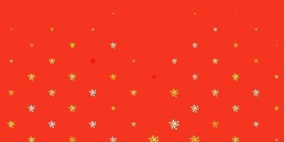 textura vector vermelho, amarelo claro com símbolos de doença.