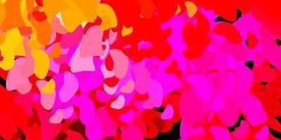 modelo de vetor rosa claro, amarelo com formas abstratas.
