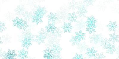 fundo azul claro do doodle do vetor com flores.