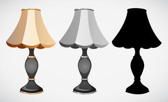 Conjunto de decoração da lâmpada vetor