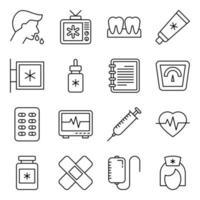 pacote de ícones lineares de coronavírus vetor