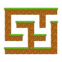 caverna do labirinto. jogo para crianças. quebra-cabeça para crianças. estilo de desenho animado. enigma do labirinto. ilustração do vetor de cor. o desenvolvimento do pensamento lógico e espacial.
