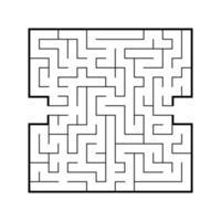 labirinto quadrado abstrato. jogo para crianças. quebra-cabeça para crianças. encontre o caminho certo. enigma do labirinto. ilustração em vetor plana isolada no fundo branco.